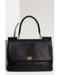 Dolce & Gabbana Miss Sicily Deerskin Leather Top Handle Satchel - Lyst