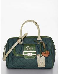 Guess Groovy Box Quilted Satchel - Lyst