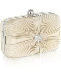 Julia Cocco' Satin Evening Clutch W/chain Strap - Lyst