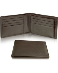 Moreschi - Signature Dark Brown Leather Billfold Id Wallet - Lyst