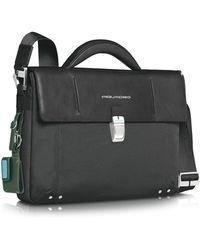 Piquadro Link - Single Gusset Laptop Briefcase - Lyst