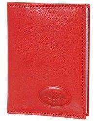 Robe Di Firenze - Red Calf Leather Book Card Holder - Lyst