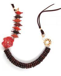 Sari Glassman Ooak - Hot Autumn - Love Birds - Lampwork Necklace - Lyst