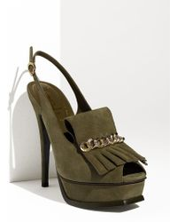 Saint Laurent Tribute Platform Slingback - Lyst