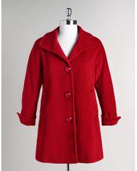 Ellen Tracy Petites Single Breasted Wool Coat - Lyst
