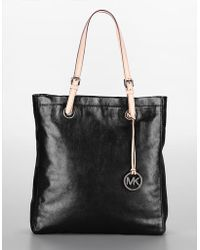 MICHAEL Michael Kors North/south Leather Tote - Lyst