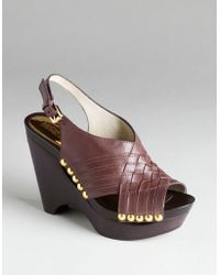 MICHAEL Michael Kors Harlow Platform Wedge Sandals - Lyst