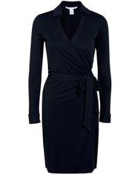 Diane von Furstenberg New Jeanne Two Matte Jersey Wrap Dress black - Lyst