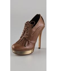 House of Harlow 1960 - Nelly Kilty Platform Booties - Lyst