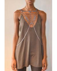 Jen Kao | Cash/silk/wool Zircon Dress | Lyst