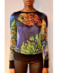Jen Kao | Printed Jersey Paneled Sweatshirt | Lyst