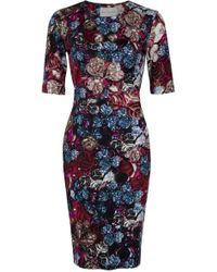 Mary Katrantzou Wild Rose Jersey Dress - Lyst