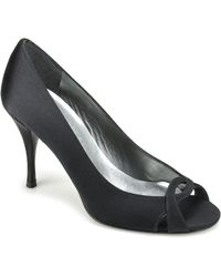 Stuart Weitzman Girly - Black Satin Pump - Lyst
