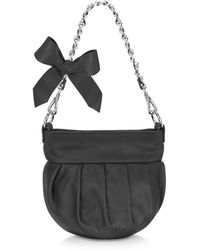 FORZIERI - Leather Bow Shoulder Bag - Lyst