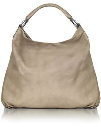 FORZIERI - Large Taupe Leather Hobo - Lyst