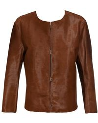 Acne Freda Calf Hair Jacket - Lyst