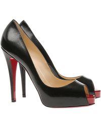 Christian Louboutin Very Prive Peep-toe Court Shoes black - Lyst