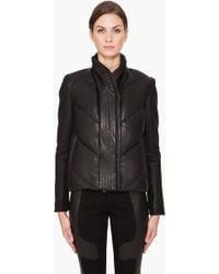 Helmut Lang Waxed Leather Jacket - Lyst