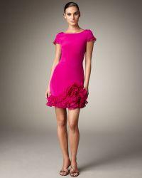 Notte by Marchesa Ruffled-trim Sheath Dress - Lyst