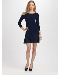 Shoshanna Wool and Silk Dress - Lyst