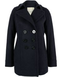 Denim & Supply Ralph Lauren - Three Quarter Length Navy Pea Coat - Lyst