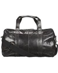 Fossil - Jackson Dom Leather Duffle Bag Black - Lyst
