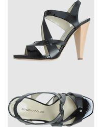 Studio Pollini High Heeled Sandals - Lyst