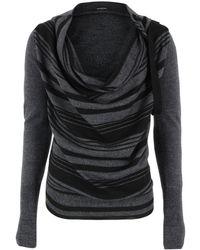 Unconditional - Wm169 Dark Grey & Black Stripe Knit - Lyst