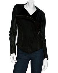 Wayne - Shearling Leather Jacket - Lyst