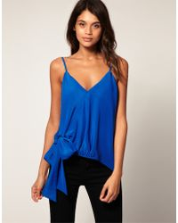 ASOS Collection Asos Tie Waist Asymmetric Cami - Lyst
