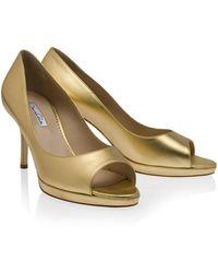 Oscar de la Renta Napa Mid Heel Sandal - Lyst