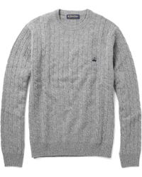 Brooks Brothers - Cable Knit Wool Jumper - Lyst