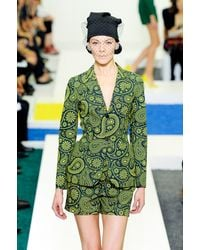 Jil Sander Spring 2012 Green Paisley Print Tailored Jacket - Lyst