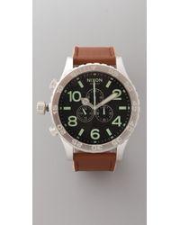 Nixon 51-30 Chrono Leather Watch - Lyst