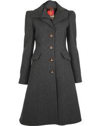 Vivienne Westwood Red Label - Grey Melton Coat - Lyst