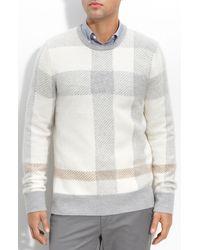 Burberry Brit Check Print Sweater - Lyst