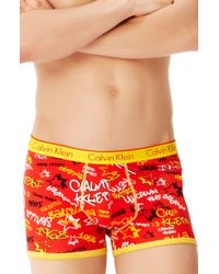 Calvin Klein Tagged Around The World Trunks Special Editiononline Exclusive - Lyst