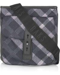 Daks - Checked Twill Bag - Lyst
