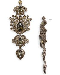 Givenchy Terra Large Tiered Chandelier Earrings brown - Lyst