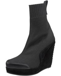 Saint Laurent Accordion-wedge Sock Boot - Lyst