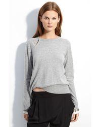 3.1 Phillip Lim Embellished Cuff Sweater - Lyst
