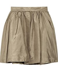 Chloé High-waisted Silk-shantung Skirt - Lyst