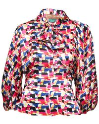 Duro Olowu - Print Scarf Blouse - Lyst