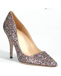 Kate Spade Licorice Glitter Pump multicolor - Lyst