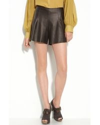 Leith Leather Shorts - Lyst