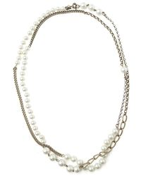 Gerard Yosca - Pearl and Rhinestone Necklace - Lyst