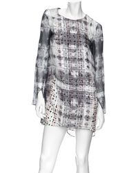 Theyskens' Theory - Multi Layered Print Dress - Lyst