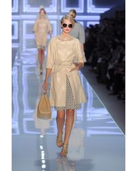 Dior Spring 2012 Leather Trenchcoat - Lyst
