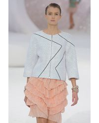 Chanel Spring 2012 Pink Ruffle Mini Skirt - Lyst