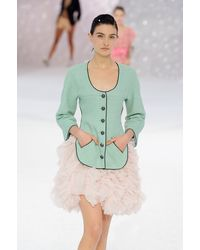 Chanel Spring 2012 Pink Mille-Feuille Pleats Mini Skirt - Lyst